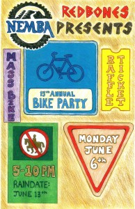 2011 Redbones Bike Party Flyer